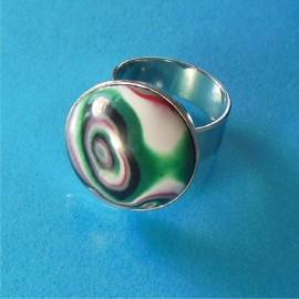 P254 green black and white round ring