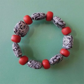 P280 black white and orange pillow bracelet SOLD