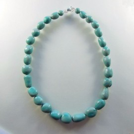 S287 green faux pebble necklace