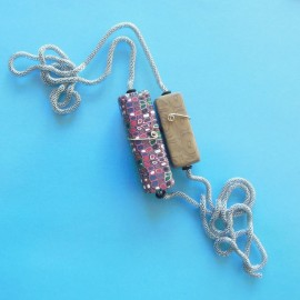 P287 two rectangles hollow pendant