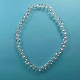 S295 one large three small ring necklace with sterling silver beads SOLD