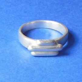 S312 sterling silver clay 3 bar ring