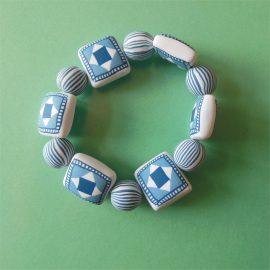 P279 blue pillow bracelet