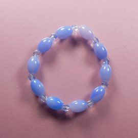 P302 blue shiny stretch bracelet