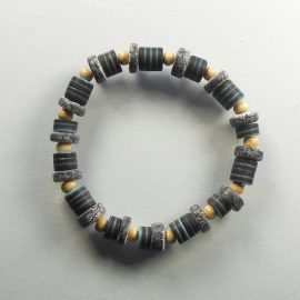 P303 tube bead stretch bracelet
