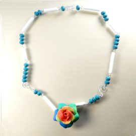 P310 rose and bead necklace