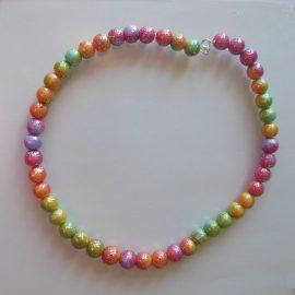 S358 rainbow bead necklace