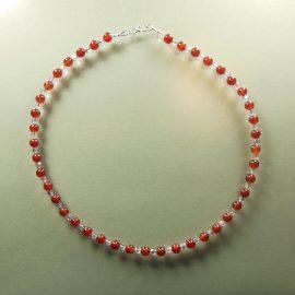 S391 carnelian bead necklace