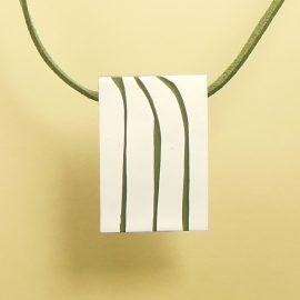 P334 green and white minimal pendant. £19
