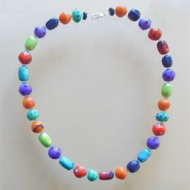 S412 bright faux lampwork necklace £26