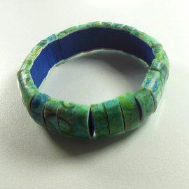 P339 green watercolour bracelet