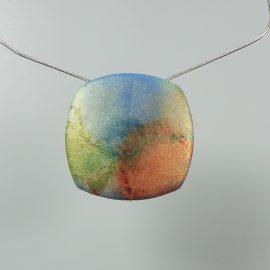 S393 shimmery watercolour pendant