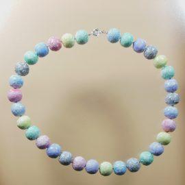 S413 pastel coloured faux ceramic necklace